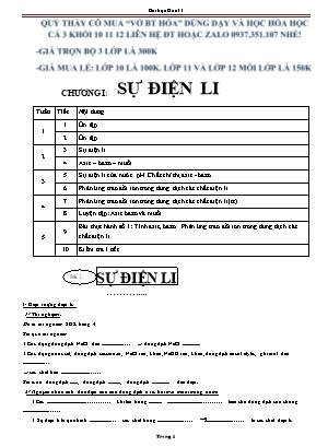 Bài tập Hóa học Lớp 11