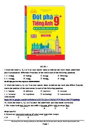 Bộ đề thi Tiếng Anh vào Lớp 10 - Bùi Văn Vịnh