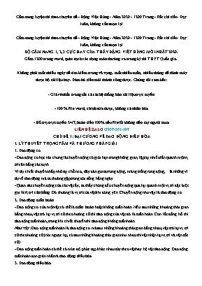 Cẩm nang luyện thi Vật lý 10 theo chuyên đề - Chủ đề 1: Đại cương về dao động điều hòa - Đặng Việt Hùng
