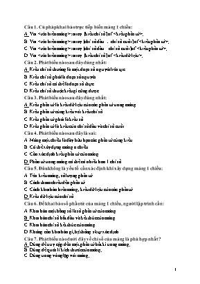 Câu hỏi ôn tập môn Tin học Lớp 11