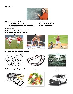 Đề kiểm tra nghe môn Tiếng Anh Lớp 10
