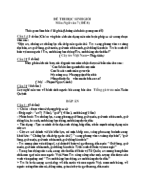 Đề thi học sinh giỏi môn Ngữ văn Lớp 7 - Đề 8