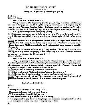 Đề thi thử vào Lớp 10 môn Ngữ văn - Đề số 6