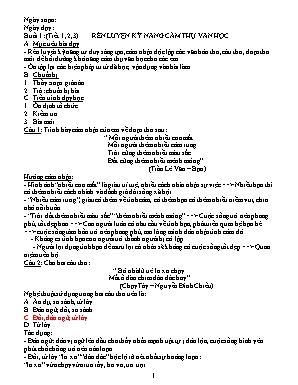 Giáo án bồi dưỡng học sinh giỏi môn Ngữ văn Lớp 9