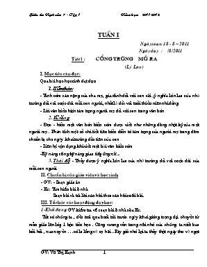 Giáo án Ngữ văn Lớp 7 - Tập 1 - Năm học 2011-2012 - Vũ Thị Hạnh