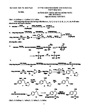 Hướng dẫn chấm đề thi chính thức môn Hóa học - Kỳ thi chọn học sinh giỏi quốc gia THTP năm 2012 - Ngày 2