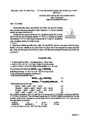 Hướng dẫn chấm đề thi chính thức môn Hóa học - Kỳ thi chọn học sinh giỏi quốc gia THPT năm 2014 - Ngày thi thứ nhất