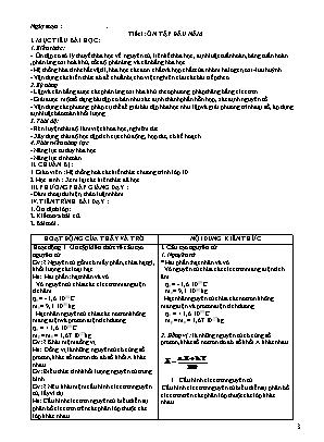 Bài giảng Hóa học 11 - Chương trình học kỳ I