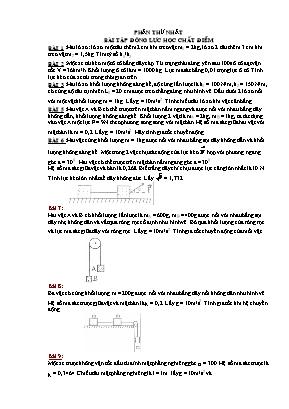 Bài tập Động lực học chất điểm (có hướng dẫn giải)