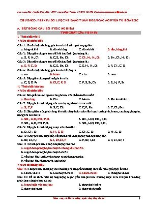 Bài tập Hóa học 9 - Chương 3: Phi kim. Sơ lược về bảng tuần hoàn các nguyên tố hóa học - Nguyễn Minh Tuấn