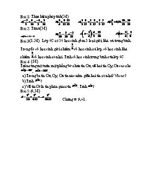 Bài tập ôn kiểm tra học kỳ II môn Toán Lớp 6
