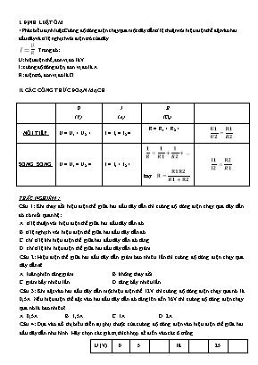 Bài tập tự luyện môn Vật lý Lớp 9