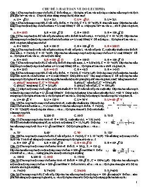 Chuyên đề ôn thi THPT Quốc gia môn Vật lý