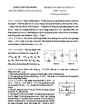 Đề kiểm tra đội tuyển lần 1 môn Vật lý Lớp 11 - Trường THPT Lương Đắc Bằng (Có đáp án)