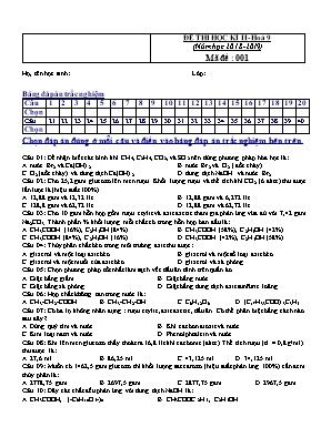 Đề kiểm tra học kỳ II môn Hóa học Lớp 9 - Mã đề 001 - Năm học 2018-2019 (Có đáp án)