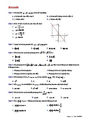 Đề kiểm tra một tiết môn Đại số Lớp 10 - Mã đề gốc