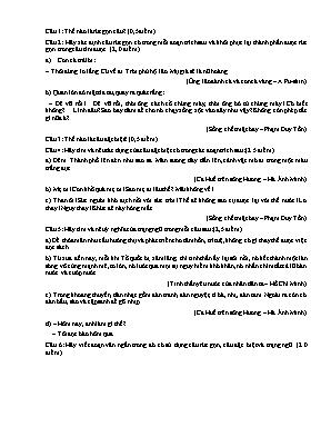 Đề kiểm tra một tiết môn Ngữ văn Lớp 7 (Có đáp án)