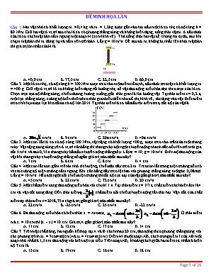 Đề minh họa thi Trung học Phổ thông Quốc gia môn Vật lý - Đề 61 (Có đáp án)