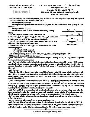 Đề thi chọn học sinh giỏi cấp trường môn Vật lí Lớp 11 - Năm học 2013-2014 - Trường THPT Yên Định 2 (Có đáp án)
