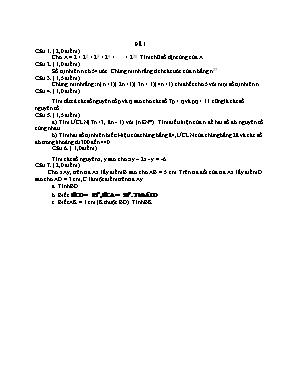 Đề thi học sinh giỏi môn Toán Lớp 6 - Đề 1 (Có đáp án)