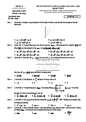 Đề thi thử THPT Quốc gia môn Vật lý - Mã đề 1111 - Năm học 2019-2020 (Có đáp án)