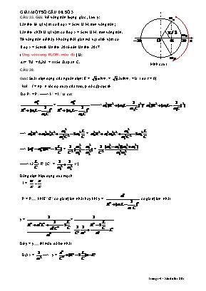 Đề thi Trung học Phổ thông Quốc gia môn Vật lý năm 2017 - Mã đề 201
