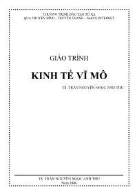 Giáo trình Kinh tế vĩ mô - Trần Nguyễn Ngọc Anh Thư
