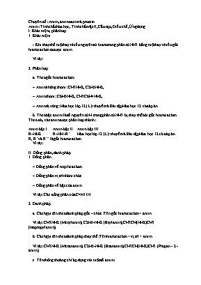 Lý thuyết Hóa học 12 - Chuyên đề: Amin, amino axit và protein