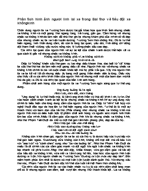 Phân tích hình ảnh người lính lái xe trong Bài thơ về tiểu đội xe không kính - Ngữ văn Lớp 9