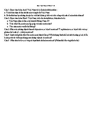Bài tập môn Địa lý Lớp 8 trong thời gian nghỉ chống dịch Covid-19 - Tuần 10