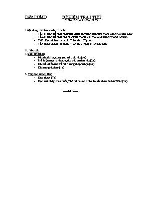 Bộ đề kiểm tra môn Âm nhạc cấp THCS - Năm học 2019-2020