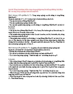 Câu hỏi ôn tập môn Địa lý Khối 7