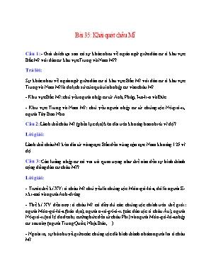Câu hỏi ôn tập môn Địa lý Lớp 7