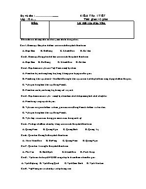Đề kiểm tra 1 tiết môn Địa lý Lớp 8 (Có đáp án)