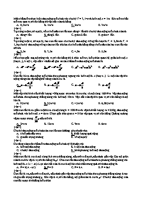 Đề ôn thi Tốt nghiệp THPT môn Vật lý