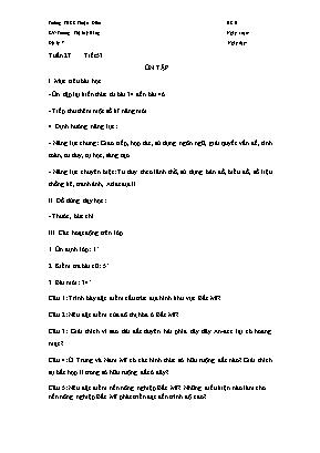 Giáo án Địa lý Lớp 7 - Tiết 53: Ôn tập - Trương Thị Mỹ Hằng