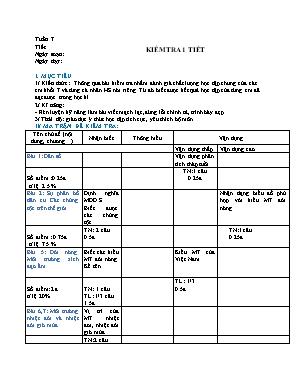 Giáo án Địa lý Lớp 7 - Tuần 7: Kiểm tra 1 tiết