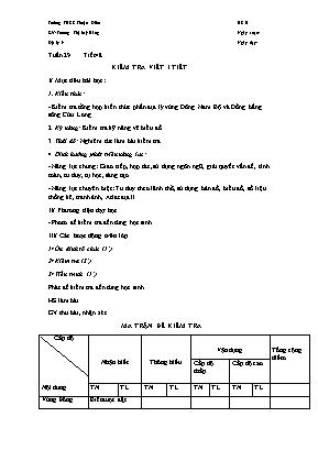 Giáo án Địa lý Lớp 9 - Tiết 48: Kiểm tra viết 1 tiết - Trương Thị Mỹ Hằng