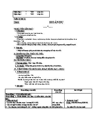Giáo án Ngữ văn Lớp 6 - Tuần 26